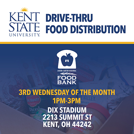 Graphic giving details for the Drive-thru Food Distribution