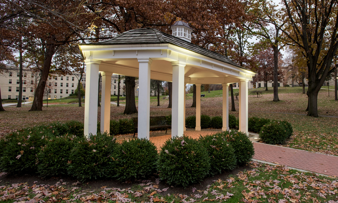 Gazebo on front campus